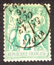 timbre france, n°62, 2c n sous b type sage, BC, Obl, cote 300e signe Calves