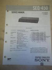 Sony Service Manual~SEQ-450 Graphic Equalizer~Original~Repair