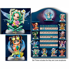 Jasmine Becket-Griffith Perpetual CALENDAR Fairy Figurine Set of 2 – MAY & JUNE