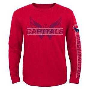 Reebok NHL Youth Washington Capitals Line Up Long Sleeve Tee Shirt