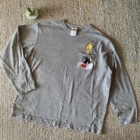 VTG Looney Tunes Sylvester Tweety Bird Embroidered Long Sleeve Tshirt Top 2000 L