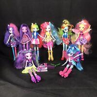 "My Little Pony Equestria Girls Dolls 9"" Lot of 8 Dolls Rainbow Pinkie Pie Wings"
