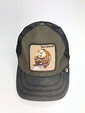 Goorin Bros. Animal Farm Trucker Snapback Hat Cap Green Wild Beaver c18