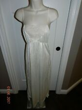 VINTAGE NYLON Ivory NIGHTGOWN SIZE Small BY INTIME OF CALIFORNIA - SLIP