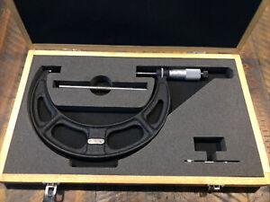 "Starrett No.436 6-7"" Micrometer .001"" Steel Anvils"