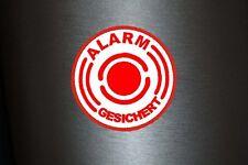 1 x 10 Stück Aufkleber Alarmgesichert Alarm Gesichert Sticker Tuning Warnung Fun