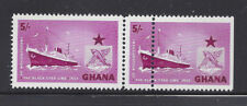 Ghana #16 Mnh Black Star Line, Ship *Pair One With Double Perfs*