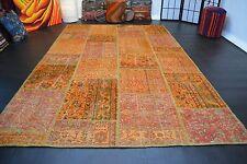 nr 10742 Hochwertige VINTAGE Design Patchwork Teppich Decolorized ca 306 x 190