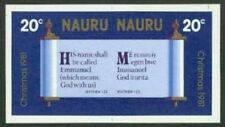 Nauru 1981 Christmas 20c se-tenant pair MASTER PROOF