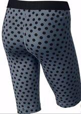 """BNWT Nike Pro 11"""" Women's Compression Dot Print Shorts 643375 494   Size : M"""