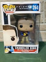 Funko POP! Television Friends Chandler Bing Holding Chick #264 Rare! NOT PERFECT