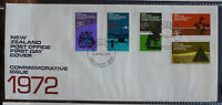 1972 NEW ZEALAND COMMEMORATIVE ISSUE SET 5 STAMPS FDC FIRST DAY COVER