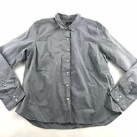 Untuckit Mens Button Front Collared Shirt Grey 16 Swiss Dot Casual Cotton