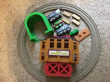 Thomas Sodor Timber Yard w Train Cars and Other Parts