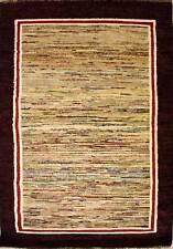 Rugstc 4x6 Senneh Gabbeh Multicolor Área de Alfombra, Vegetal Tinte ,