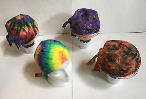 *New* Handmade, Tie Dye Biker Skull Cap, Doo Rag, Bandana, 30 Years Experience!