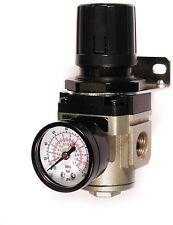 3/8 in Air Compressor Pneumatic Pressure Regulator Steel Protected Gauge 145 psi