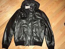 +++NWT $995 Michael Kors Hooded Leather Jacket sz M+++