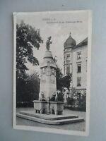 Ansichtskarte Fürth i. B. Kunstbrunnen in der Würzburger Straße 1915