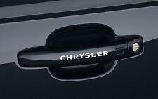 6 x Door Handle Stickers fits Chrysler 300C SRT Crossfire 300M Emblem Logo