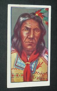 GODFREY PHILLIPS CIGARETTES CARD 1927 RED INDIANS #25 VICTORIO CHEF APACHES