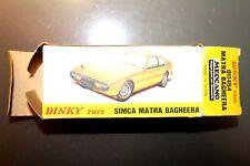 DINKY TOYS Spain BOITE VIDE SIMCA  MATRA Bagheera 1454