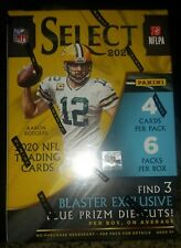2020 Panini SELECT NFL Football BLASTER BOX With 3 Exclusive Blue Prizm Die-Cuts