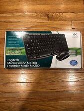 Logitech MK200 920-002714 Wired Keyboard & Mouse