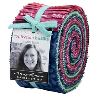 Confection Batiks Jelly Roll by Kate Spain for Moda Fabrics