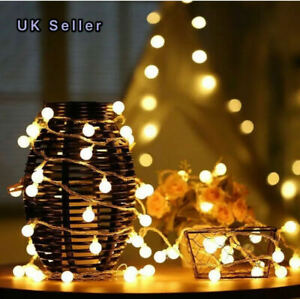 Battery LED Globe Bulb Ball Fairy String Lights Garden Indoor/Outdoor party UK