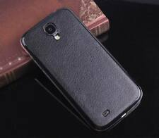 Black Hot Leather PU Back Battery Cover Door Case For Samsung Galaxy S4 IV i9500