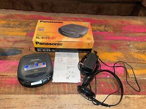 Panasonic Portable CD Player SL-S125 with box, power cord, and headphones