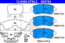 Bremsbelagsatz, Scheibenbremse für Bremsanlage Vorderachse ATE 13.0460-5794.2