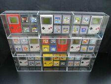 1x Ninodo Acrylglas Box Für 1 Game Boy + 4 Spiele - OHNE SPIELE - OHNE Konsole