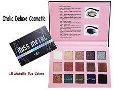 Italia Deluxe MISS METAL 15 Colors Metal Eyeshadow Palette - US SELLER, NEW!