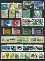 MNZ35) New Zealand 1988 Paintings, Health, Xmas, Native Birds, Whales MUH