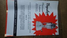 VINTAGE LEAFLET EXPLODED VIEW SPARE PARTS VAPALUX 320 BIALADDIN WILLIS & BATES