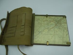 Vintage World War ll British Army Webbing Map Carrying Case