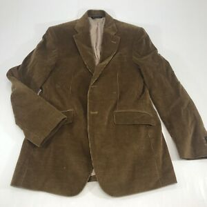 Banana Republic Mens Brown Solid Corduroy Two Button Sport Coat Blazer Jacket 38