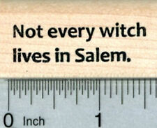 Witch Saying Rubber Stamp, Halloween Series B30926 WM