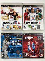 Lot of 4 Playstation 3 PS3 Sports Games Madden FIFA Soccer NBA2K MLB