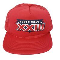 Superbowl XXIII (49ers vs. Bengals) Vintage Snapback Trucker Hat Cap Red  NWOT
