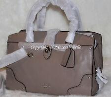 NWT! COACH Mercer 30 Carryall Satchel Grain Leather Bag Purse Handbag Stone