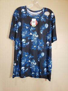 Super Mario Nintendo Hawaiian Floral Sublimated T-Shirt - Men's XL - New w/Tags