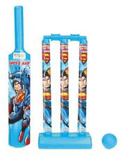 Superman Mini Cricket Set with 1 Plastic Bat & Ball 3 Wickets Base & Bail