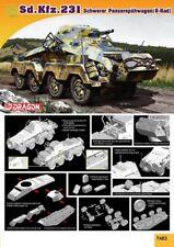 1/72 Sd.Kfz.231 8-Rad w/ 2cm KwK 30 Cannon plus MG34 DRAGON 7483 FREE SHIPPING