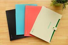 8 Pockets A4 PP Office Expanding File Folder Organizer Accordion Button Fashion