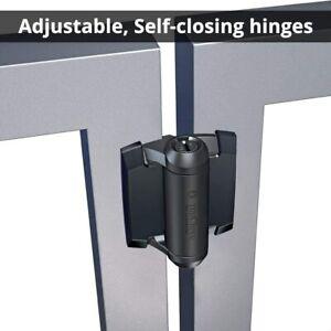 D&D Tru Close TCA1  Pool Gate Hinges + Trim Tension Adjustable 30KG Self Closing