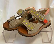 Niños Chica Joven Bebé Zapatos Sandalias Hecho ITALY gris 1108 Talla 22