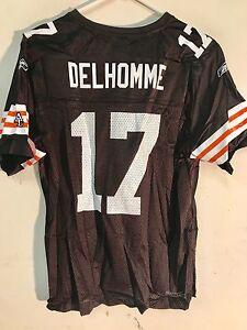 Reebok Women's NFL Jersey Cleveland Browns Jake Delhomme Brown sz L